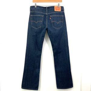 LEVI 527 Slim Bootcut Dark Blue Jeans 32 x 32 N27